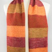 Écharpe en laine de Yak rayé rouge (180 x 30 cm) | Shawls4you.de |