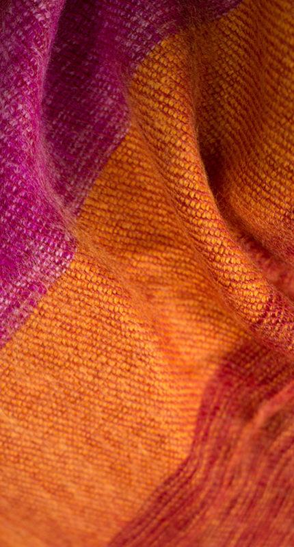 Châles de laine rouge