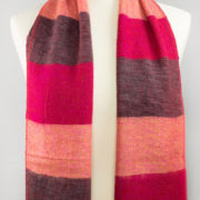 Echarpe Népal rayé rose rouge (30 x 180 cm) | Shawls4you.de |