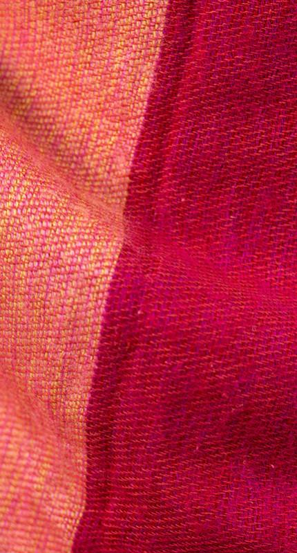 Echarpe Népal rayé rose rouge (30 x 180 cm)