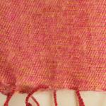 Echarpe Népal rayé rose rouge (30 x 180 cm)2
