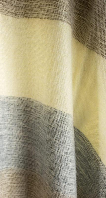 Echarpe Nepal Gris Creme Blanc ( 180 x 30 cm )1