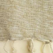Echarpe Nepal Gris Creme Blanc ( 180 x 30 cm )