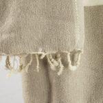 Laine tissus crème rayé gris (180 x 80 cm)1