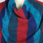 Linge tibétain Bleu Rouge (180 x 80 cm) -commander en ligne | Shawls4you.fr |