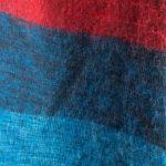 Linge tibétain Bleu Rouge (180 x 80 cm)1