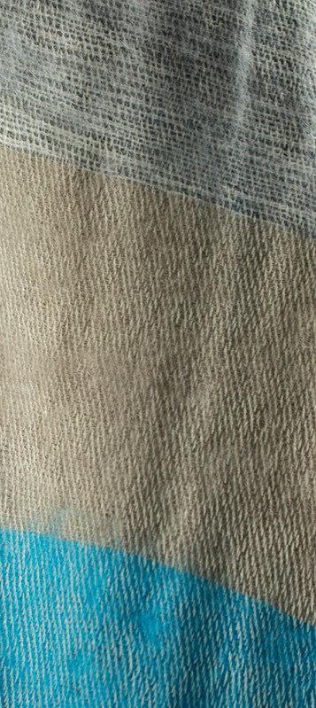Népal écharpe bleu gris ( 180 x 30 cm )