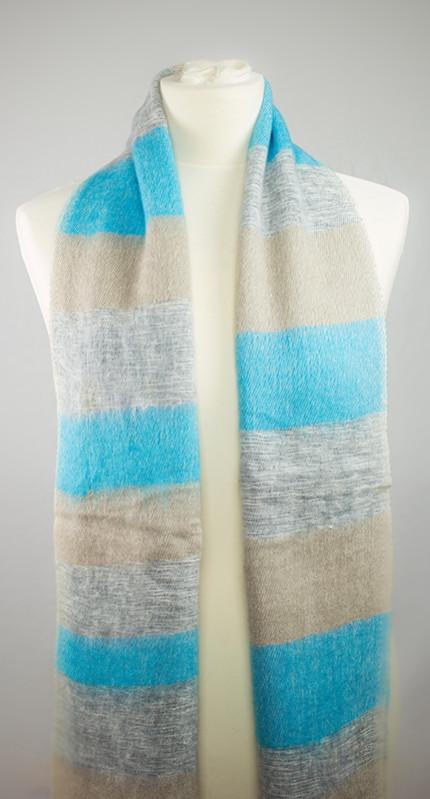 Népal écharpe bleu gris ( 180 x 30 cm ) | Shawls4you.de |