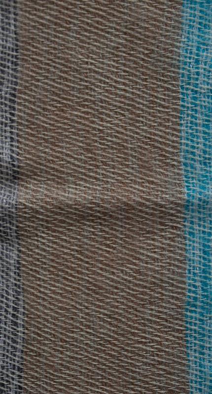 Népal Couverture Bleu, Gris ( 220 x 120 cm)