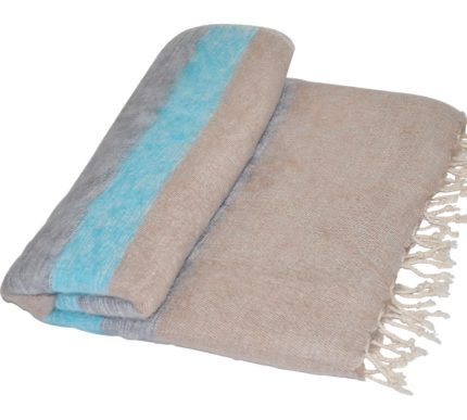 Népal Couverture Bleu, Gris – Shawls4you.fr