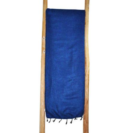 Népal Plaid Bleu Royal- Commande en ligne – Shawls4you.fr