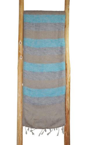 Népal Plaid bleu gris- Commande en ligne - Shawls4you.fr