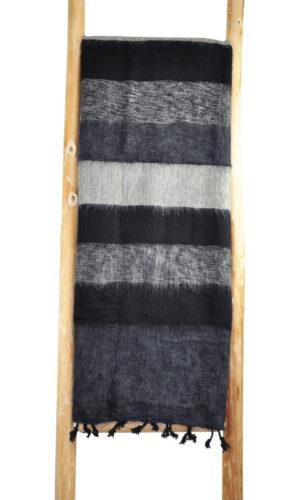 Népal Plaid gris noir anthracite- Commande en ligne - Shawls4you.fr