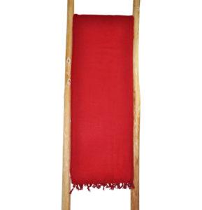 Népal Plaid rouge - Commande en ligne - Shawls4you.fr