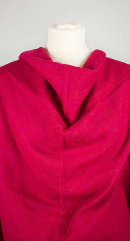 Népal Wrap Rouge, Rose (180 x 80 cm)