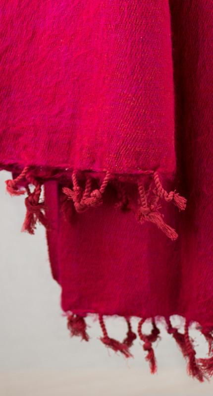 Népal Wrap Rouge, Rose (180 x 80 cm)3