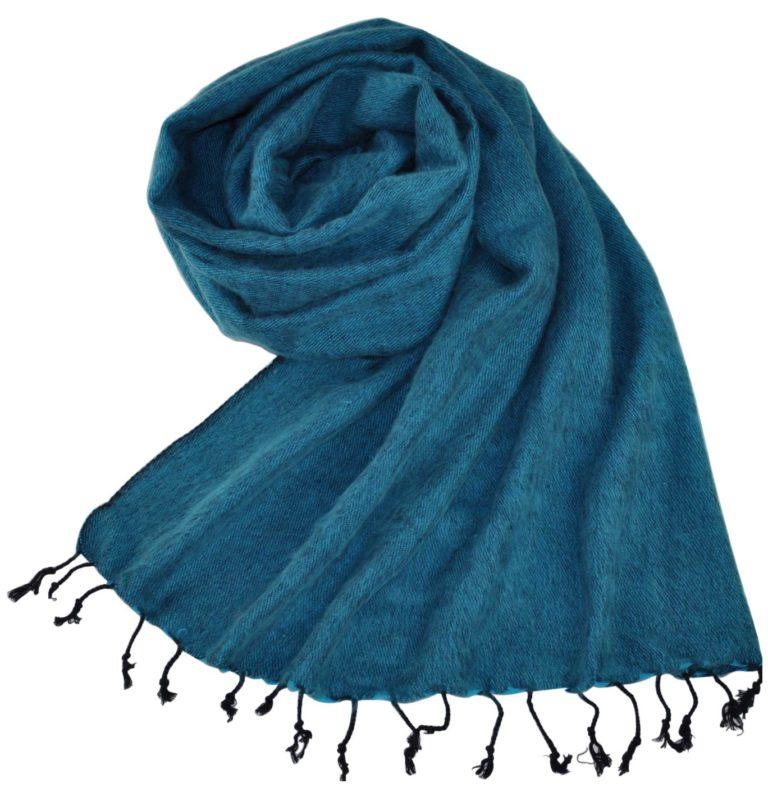 Népal châle bleu clair (180 x 80 cm)
