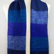 Népal foulard bleu violet (30 x 180 cm) | Shawls4you.de |