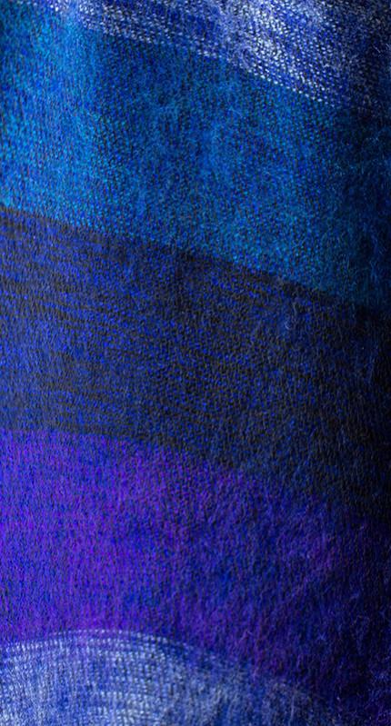 Népal foulard bleu violet (30 x 180 cm)1