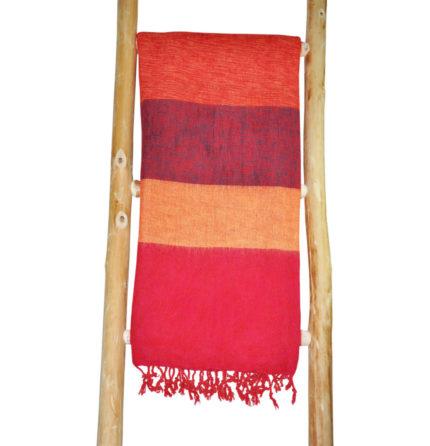 Nepal-Chale Jaune rouge-online-Shawls4you.fr