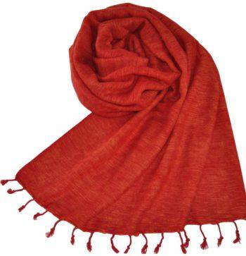 Nepal rouge drap de laine (180 x 80 cm)