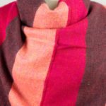 Rose, wrap rayé rouge (180 x 80 cm)1