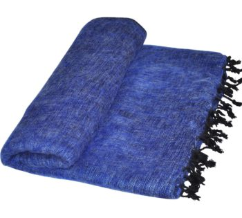 Terrasse couverture bleue
