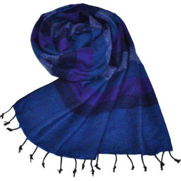 Tibet Echarpe Blue Violet (180 x 80 cm)