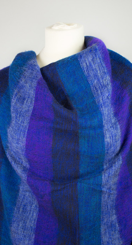 Tibet Scarf Blue Violet (180 x 80 cm)2