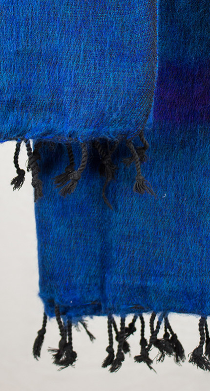 Tibet Scarf Blue Violet (180 x 80 cm)3