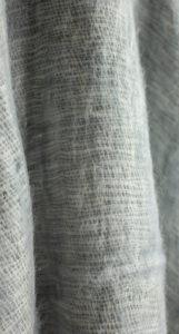 Tibet chale gris (180 x 80 cm)