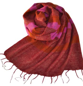 Tibetan Wrap Rose (180 x 80 cm) -commander en ligne Shawls4you.fr