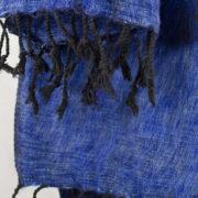 Tissus de laine de Yak Bleu (180 x 80 cm)3
