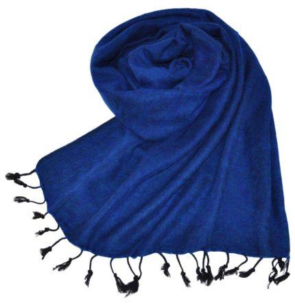 Wrap tibétain bleu foncé (180 x 80 cm) -commander en ligne  Shawls4you.fr