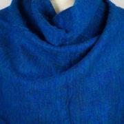 Wrap tibétain bleu foncé (180 x 80 cm)