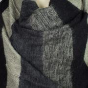 Yak Chale gris noir (180 x 80 cm)