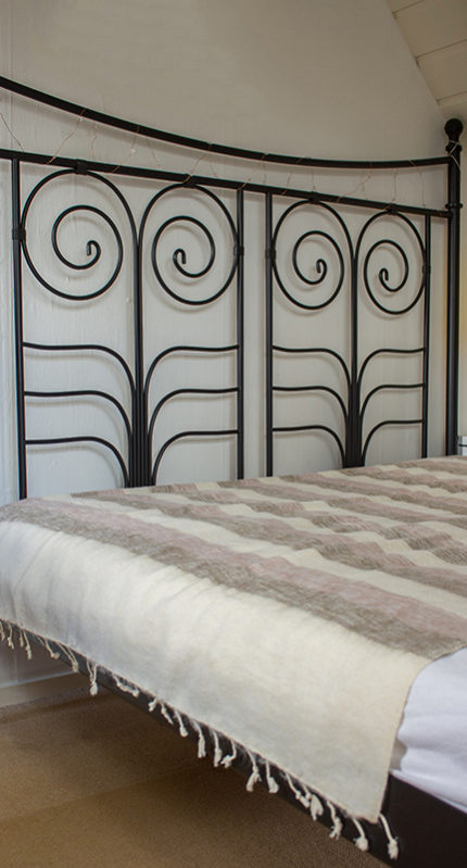 Yak couverture de laine rose blanche (220 x 120 cm)2