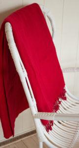 Yak couverture de laine rouge Népal( 220 x 120 cm) - 14