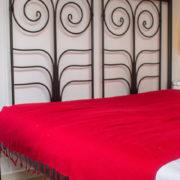 Yak couverture de laine rouge Népal( 220 x 120 cm)2