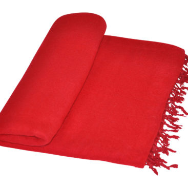 Yak couverture de laine rouge Népal