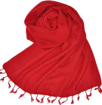 Yak laine châle rouge (180 x 80 cm) -commander en ligne Shawls4you.fr