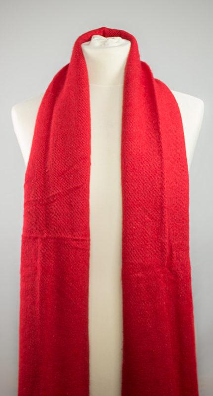 Yak laine châle rouge (180 x 80 cm)