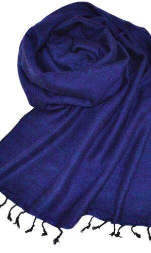 Yak laine châle violet (180 x 80 cm) -commander en ligne Shawls4you.fr