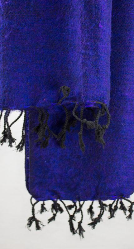 Yak laine châle violet (180 x 80 cm)3