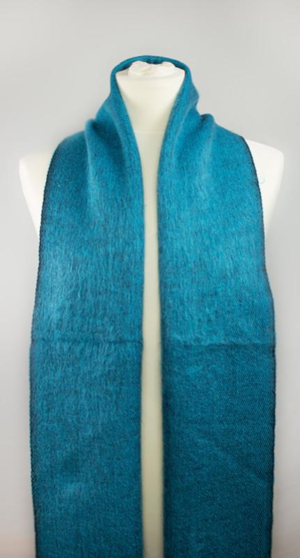 laine tibétaine bleu clair écharpe (30 x 180 cm) | Shawls4you.de |