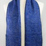 laine tibétaine bleu foulard (30 x 180 cm)   Shawls4you.de  