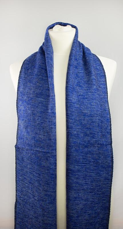 laine tibétaine bleu foulard (30 x 180 cm) | Shawls4you.de |