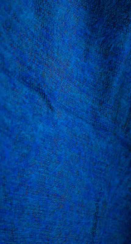 laine tibétaine bleu foulard (30 x 180 cm)