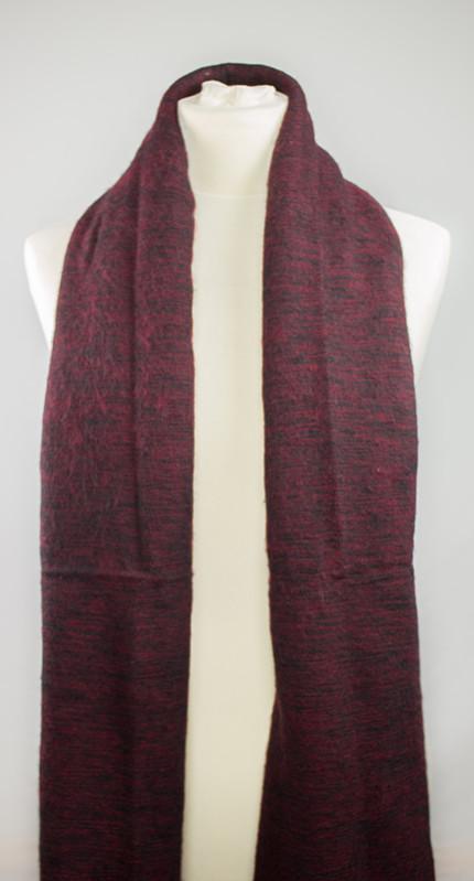 laine tibétaine foulard sombre (30 x 180 cm) | Shawls4you.de |
