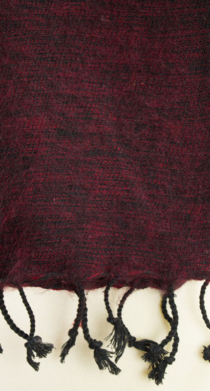 laine tibétaine foulard sombre (30 x 180 cm)1